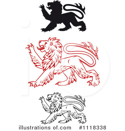 Heraldic Lion Clipart #1118338 by Vector Tradition SM