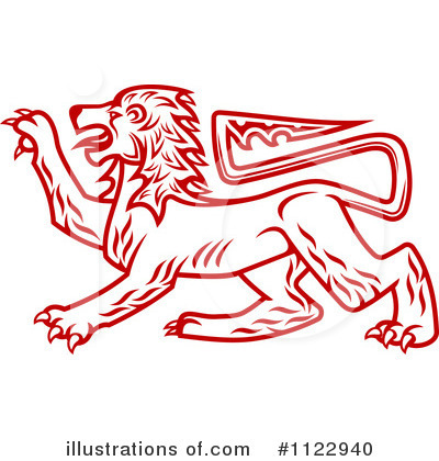 Heraldic Lion Clipart #1122940 by Vector Tradition SM