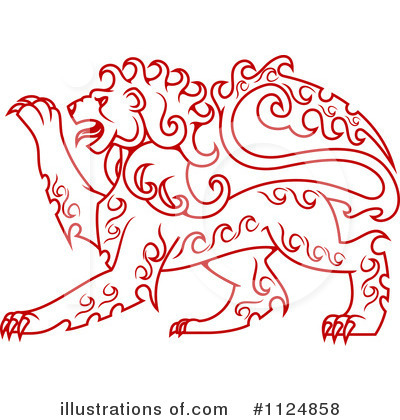 Heraldic Lion Clipart #1124858 by Vector Tradition SM