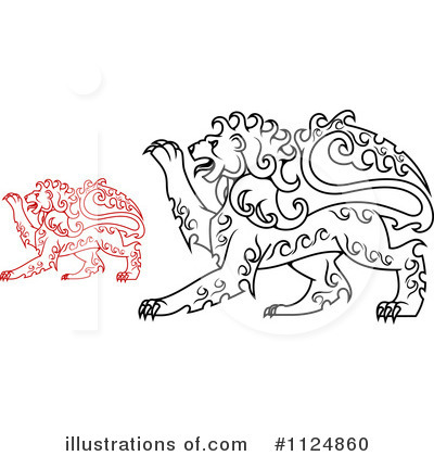 Heraldic Lion Clipart #1124860 by Vector Tradition SM