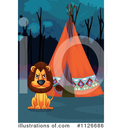 Royalty-Free (RF) Lion Clipart Illustration by Graphics RF - Stock Sample #1126686