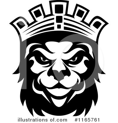 Heraldic Lion Clipart #1165761 by Vector Tradition SM