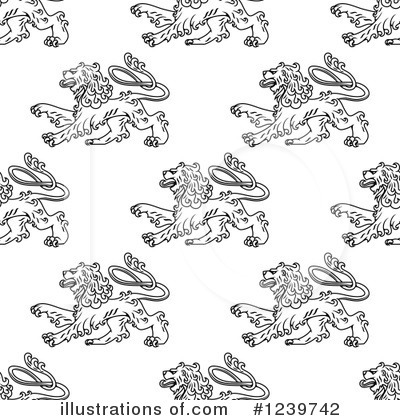Heraldic Lion Clipart #1239742 by Vector Tradition SM