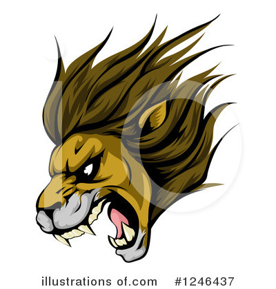 Lion Clipart #1246437 by AtStockIllustration