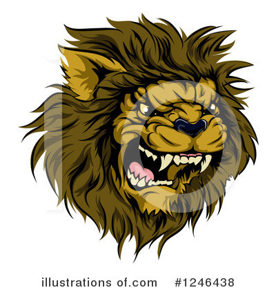 Lion Clipart #1246438 by AtStockIllustration