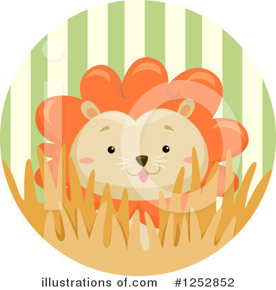 Royalty-Free (RF) Lion Clipart Illustration by BNP Design Studio - Stock Sample #1252852