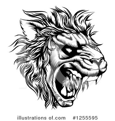 Lion Clipart #1255595 by AtStockIllustration