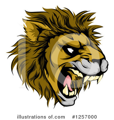 Lion Clipart #1257000 by AtStockIllustration