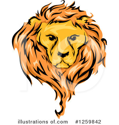 Lion Clipart #1259842 by BNP Design Studio