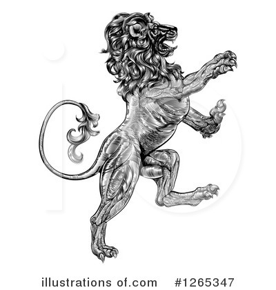 Heraldic Lion Clipart #1265347 by AtStockIllustration