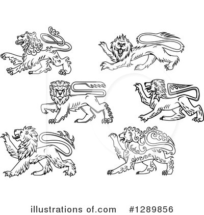 Heraldic Lion Clipart #1289856 by Vector Tradition SM