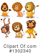 Lion Clipart #1302340 by Graphics RF