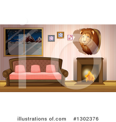 Fireplace Clipart #1302376 by Graphics RF