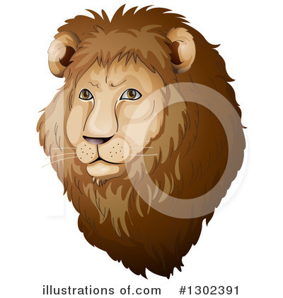 Royalty-Free (RF) Lion Clipart Illustration by Graphics RF - Stock Sample #1302391