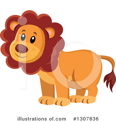 Royalty-Free (RF) Lion Clipart Illustration by visekart - Stock Sample #1307836