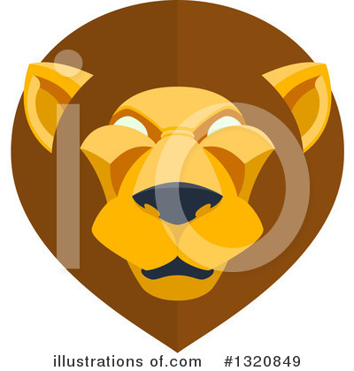 Royalty-Free (RF) Lion Clipart Illustration by AtStockIllustration - Stock Sample #1320849