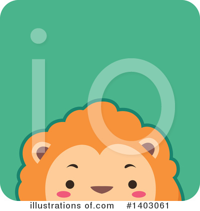 Royalty-Free (RF) Lion Clipart Illustration by BNP Design Studio - Stock Sample #1403061