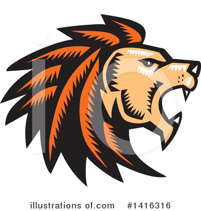 Lion Clipart #1416316 by patrimonio