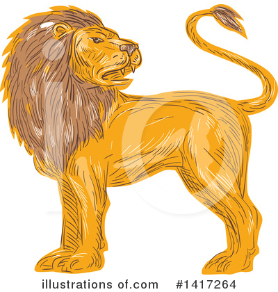 Lion Clipart #1417264 by patrimonio