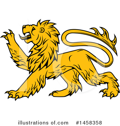 Heraldic Lion Clipart #1458358 by Vector Tradition SM
