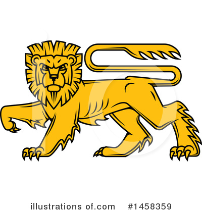 Heraldic Lion Clipart #1458359 by Vector Tradition SM