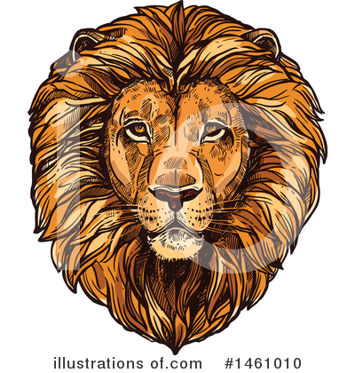 Royalty-Free (RF) Lion Clipart Illustration by Vector Tradition SM - Stock Sample #1461010