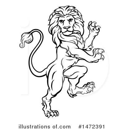 Royalty-Free (RF) Lion Clipart Illustration by AtStockIllustration - Stock Sample #1472391