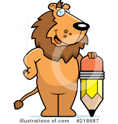 Royalty-Free (RF) Lion Clipart Illustration by Cory Thoman - Stock Sample #218687