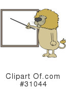 Royalty-Free (RF) lion Clipart Illustration #31044