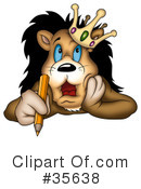 Royalty-Free (RF) Lion Clipart Illustration #35638