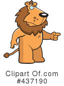 Royalty-Free (RF) Lion Clipart Illustration #437190