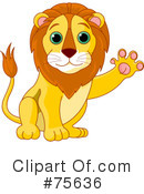 Royalty-Free (RF) lion Clipart Illustration #75636
