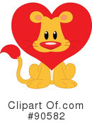 Royalty-Free (RF) Lion Clipart Illustration #90582