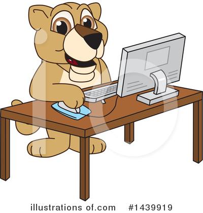 Lion School Mascot Clipart #1439919 by Toons4Biz
