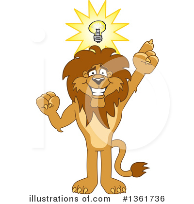 Lion School Mascot Clipart #1361736 by Toons4Biz