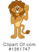 Lion School Mascot Clipart #1361747 by Toons4Biz