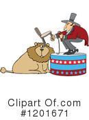 Royalty-Free (RF) Lion Tamer Clipart Illustration #1201671