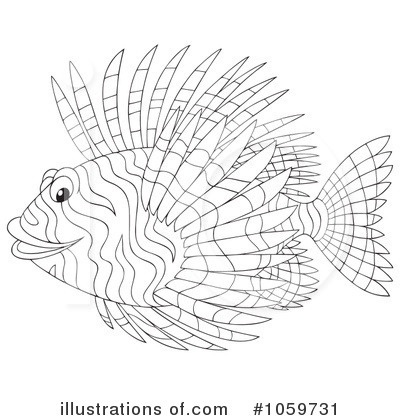Lionfish clipart 1059731 illustration by alex bannykh for Lionfish coloring page