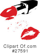 Royalty-Free (RF) Lipstick Kiss Clipart Illustration #27591