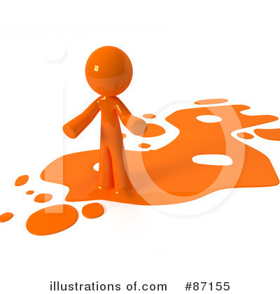 Orange Design Mascot Clipart #87155 by Leo Blanchette