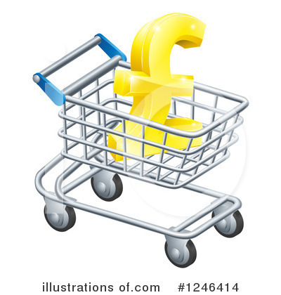 Shopping Cart Clipart #1246414 by AtStockIllustration