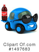 Little Blue Car Clipart #1497683 by Julos