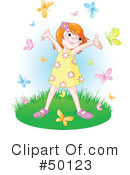 Royalty-Free (RF) little girl Clipart Illustration #50123