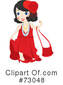 Royalty-Free (RF) Little Girl Clipart Illustration #73048