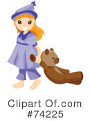 Little Girl Clipart #74225 by BNP Design Studio