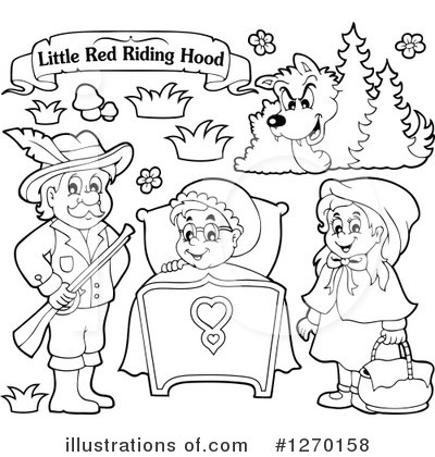 Little Red Riding Hood Clipart #1270158 by visekart