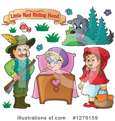 Little Red Riding Hood Clipart #1270159 by visekart