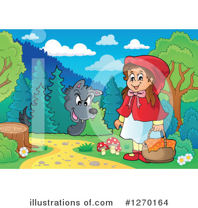 Little Red Riding Hood Clipart #1270164 by visekart