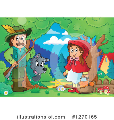Royalty-Free (RF) Little Red Riding Hood Clipart Illustration by visekart - Stock Sample #1270165