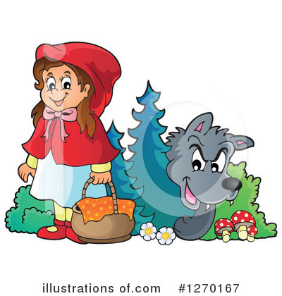 Little Red Riding Hood Clipart #1270167 by visekart